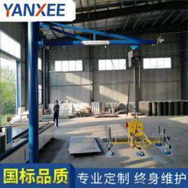 松江定柱式悬臂吊摇臂式起重机80kg**钢材制作
