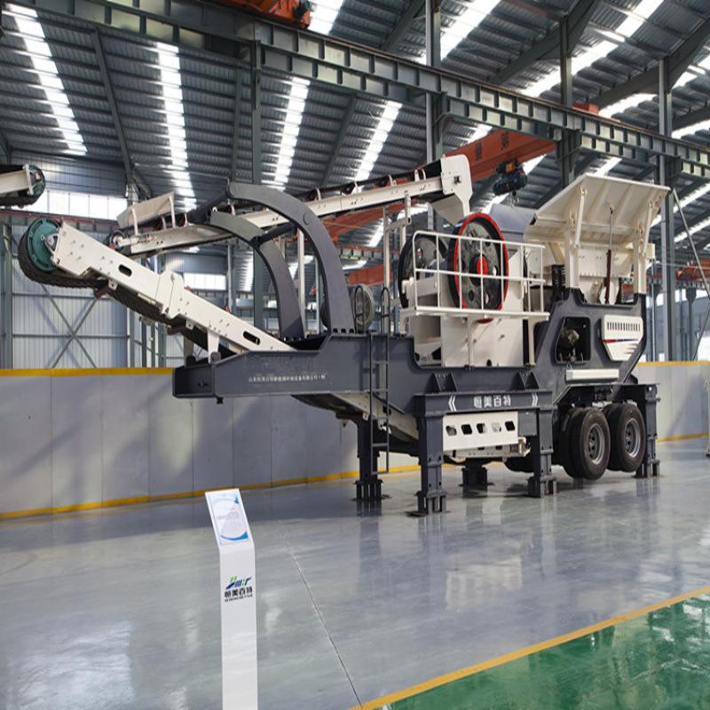 山东移动破碎站 矿山石料破碎机设备 移动破碎机生产线厂家