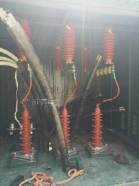 35KV铜排连接电缆分支箱一进三出安装效果图