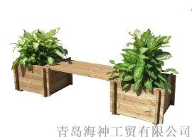户外休闲用品花园家具木制插接花箱