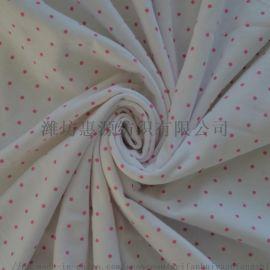 潍坊 40s有机棉莱卡针织面料精梳纯棉汗布服装面料