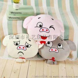 厂家专业定制各类材质抱枕 毛绒玩具定制生产