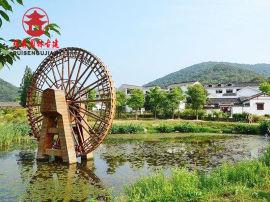 自贡水车厂家,景观黄河水车设计定制
