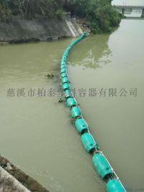 塑料浮体拦污网拦水面垃圾