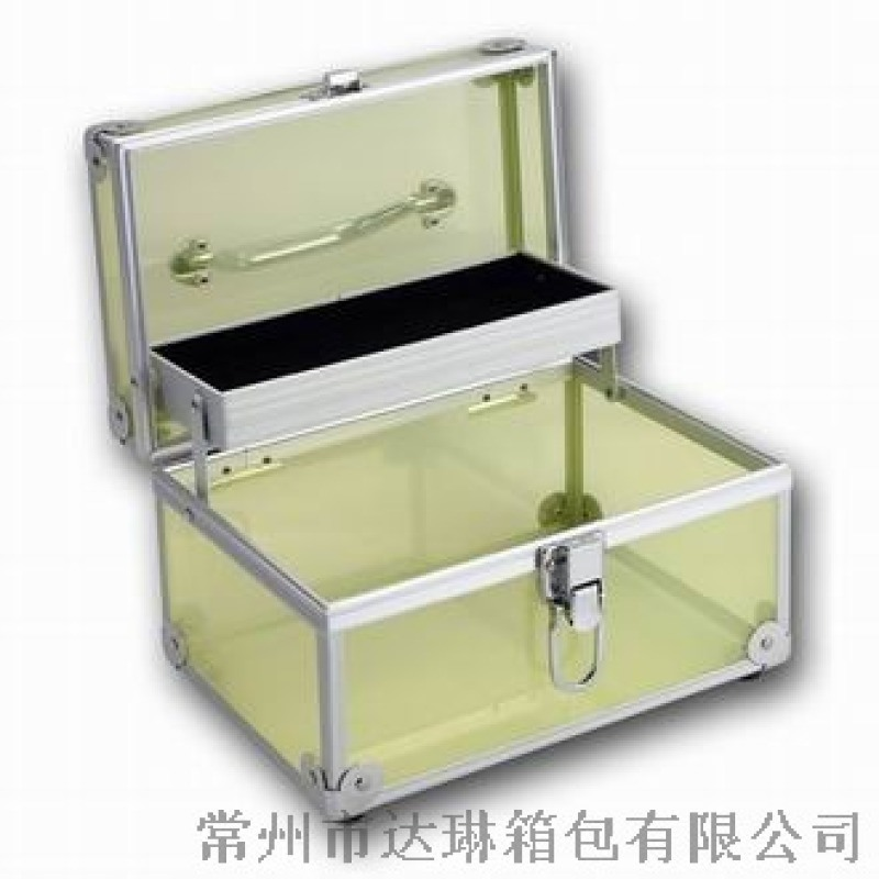亞克力化妝箱首飾箱 電子設備展示箱手提鋁箱