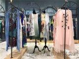 名彩丽人女装高端中国风连衣裙广州品牌折扣货源哪里有