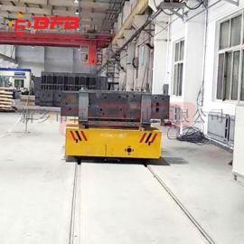 江苏50吨轨道平板车 涂装地面钢轨轨道车