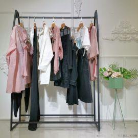 茜娜颗粒绒韩版卫衣汉派女装尾货加盟折扣女装 上海品牌折扣女装公司