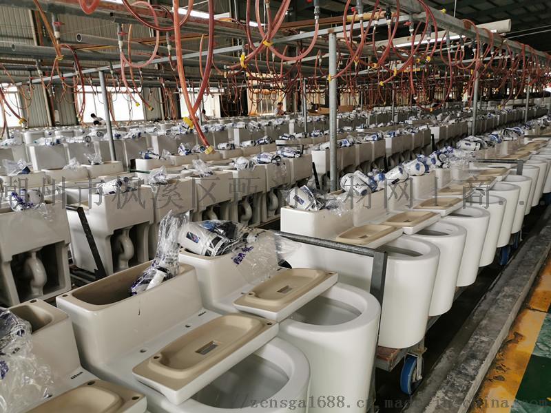 廣東潮州十大連體坐便器馬桶座廁OEM貼牌生產廠家
