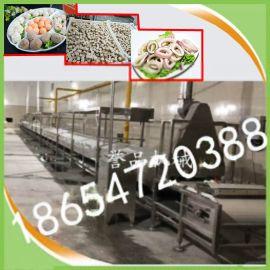 大型肉丸蒸汽生产线-全自动连续网带宠物食品蒸汽隧道