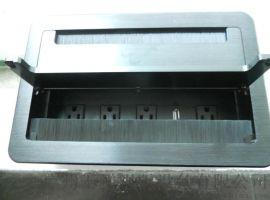 毛刷翻盖式桌面插座,铝合金拉丝材质翻盖插座,办公桌台面过线插座,定制美标电源桌面插座,经典款毛刷桌面插座,批发定制毛刷桌面插座