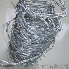 供应优质镀锌刺绳 PVC包塑刺绳 刺绳防护网