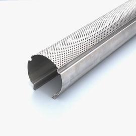 冲孔铝圆管厂家直销酒店专用木纹铝圆管装饰材料定制