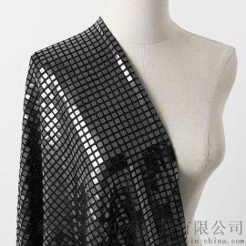 闪亮纯色针织冲片面料 服装面料柔软透气 舞台服面料