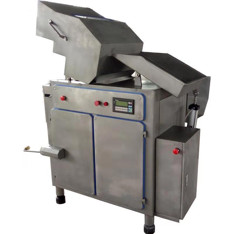 原装冻肉盘切块机实拍 鱼糜冻盘破碎设备 冻肉破碎切块机器包邮