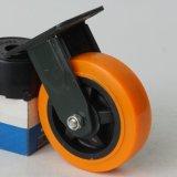 现货6寸工业万向脚轮 塑芯聚禄静音耐磨脚轮 平板手推车轮子批发