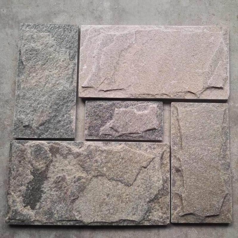 厂家直销 灰色石英乱形灰色碎拼石粉色乱型 粉石英碎拼铺地面图片