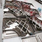 不鏽鋼板材表面處理 蝕刻 鐳射剪壓8K壓花標識牌加工定製