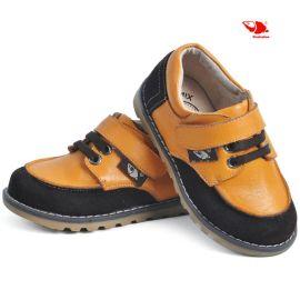 真皮新款男童鞋 時尚魔術貼單鞋 裏外全皮 拼接色春款男鞋 批發