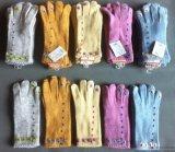 廠家生產批發最新款女士服飾手套針織毛線保暖配搭手工訂花圖案手套