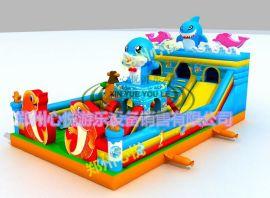 雲南昆明兒童充氣大滑梯經典兒童遊樂設施