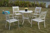 铸铝套椅4+1组合+金属铝椅