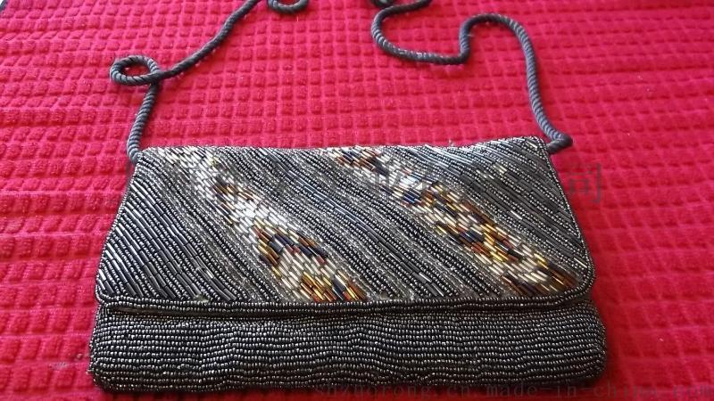 厂家直销珠绣手袋 珠绣包 珠包 珠片包 手工亮片包
