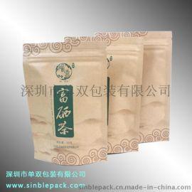 厂家批量定制牛皮纸茶叶直立袋物美价廉
