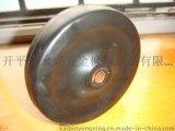 4寸黑色實心橡膠輪扁輪100X25全硬橡膠軟膠小輪子扁輪