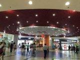 购物广场铝格栅天花 吊顶