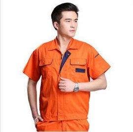 工作服短袖套装男 汽修服工程服 工衣厂服 夏季工作服 工装定做