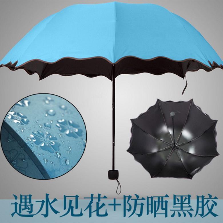 雨傘廠家現貨批發直銷三折雨傘 自開收商務摺疊傘 晴雨傘