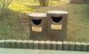 户外混凝土预制GRC仿木垃圾桶,代替防腐木。