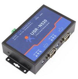 有人RS232/485/422转以太网USR-N520双串口服务器