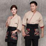餐饮酒店日式厨师工作服韩国餐厅服务员服装韩国料理寿司服装定做