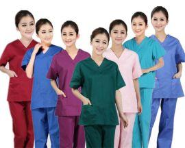 廠家定制洗手衣男女同款醫生服白大褂 刷手 護士服手術室服裝用品