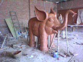 铜雕大象泥稿
