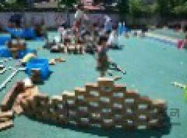 幼儿园户外大型碳化积木玩具 木质积木玩具厂家