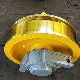 批發起重機大小車運行機構車輪 600*150整體淬火調質車輪 雙沿從動車輪組 鑄鋼42CrMo材質車輪組