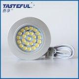 家居新品超薄led暗装橱柜灯12V吸顶筒灯珠宝展柜照明圆形LED射灯