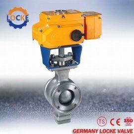 进口电动V型调节球阀现货供应