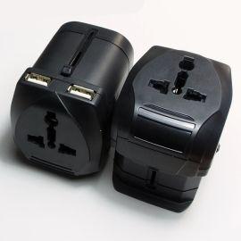 双USB全球通用转换插座 2.5A快速充电转换器