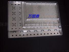 万盟鑫方形透气邦定铝盘SMT周转铝盘 料盒 烘烤托盘