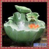 小和尚沙彌流水擺件 陶瓷風水招財噴泉 盆景加溼器辦公室