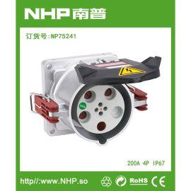 专业生产 200A/4P IP67 户外船舶地铁  大电流电源插座