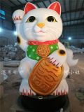 港粤雕塑推出2米高招财摆件玻璃钢招财猫雕塑