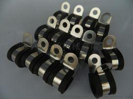 福莱通不鏽鋼R型线夹/R型连胶條喉箍生产厂家