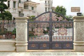 天津东丽铸铝别墅庭院大门厂家设计铝艺楼梯扶手安装