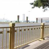 黃金道路護欄廠家天安門金色防撞護欄長安街交通護欄
