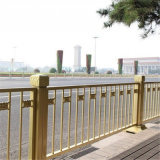 黄金道路护栏厂家天安门金色防撞护栏长安街交通护栏